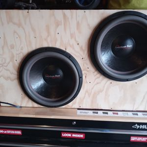 2 15 Inch American Bass HD D1 And 4000watt Audio Pipe. D Class Mono Block Amp for Sale in Detroit, MI