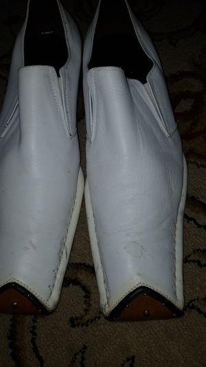 Mens white dress shoes for Sale in Green Bay, VA