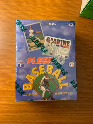 Fleer 1993 baseball cards unopened box for Sale in Yarrow Point, WA
