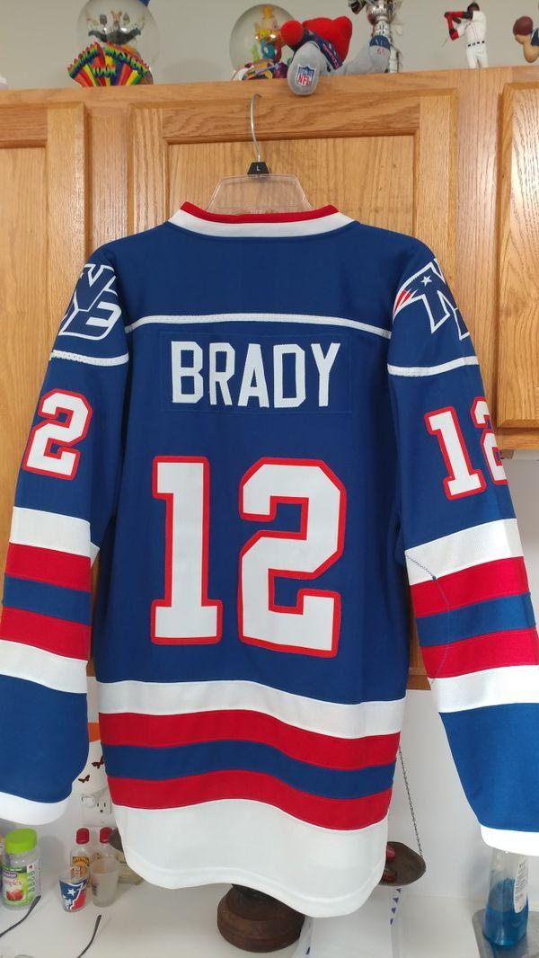 Brady Red & Blue hockey jerseys adult M to 2XL