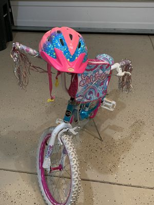 Girls talk bike and bell rally child helmet for Sale in Sewickley, PA