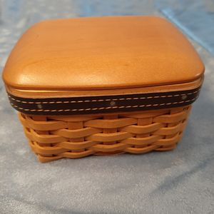 Longaberger 2003 Fathers Day pocket change basket w lid and 2 liners for Sale in Batavia, IL
