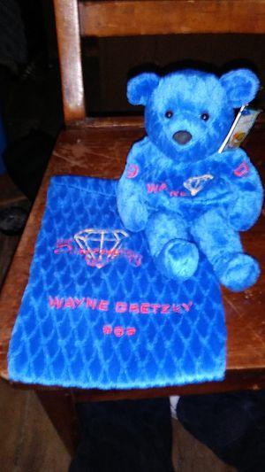 Salvinos bammers diamond edition Wayne Gretzky #99 plush bear w/ bag for Sale in Philadelphia, PA