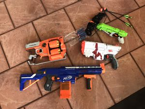 Collection of 4 NERF guns w/ Extra rounds for Sale in Morgan Hill, CA