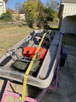 Pond prowler and trailer for Sale in Saginaw, TX