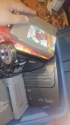 Fc twin Nintendo 23 games including super Mario's 1 2 and 3 for Sale in Arlington, TX