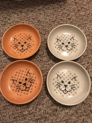 4 cat bowls for Sale in Wilkesboro, NC