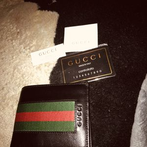 Gucci Wallet red and green stripes leather for Sale in Dallas, TX