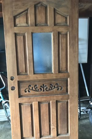 Wooden front/entry door for Sale in Long Beach, CA