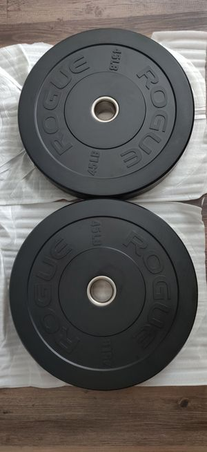 45lb Rogue Bumper Plates Set for Sale in Miami, FL