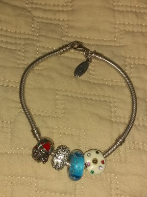 Pandora 925 BRACELET with charms including santa Claus charm for Sale in Escondido, CA
