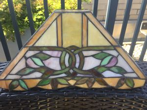 Two Handmade Stained Glass Wall Sconces Lights for Sale in Bethesda, MD