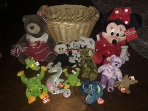 Bundle of collectors TY Beanie Babies, Build-a-Bear & Disney stuffed animals for Sale in Los Angeles, CA