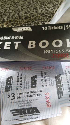 RTA bus tickets for Sale in Moreno Valley, CA