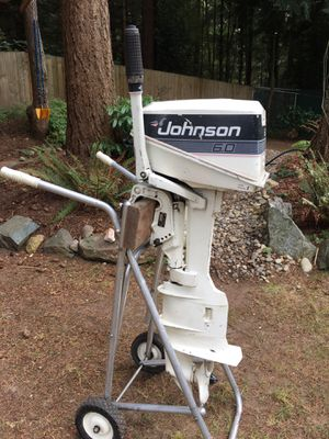 Johnson 4hp longshaft outboard with a 6hp hood for Sale in Lynnwood, WA