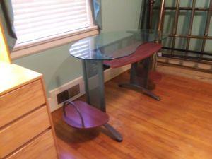Glasstop Desk for Sale in Sanford, NC