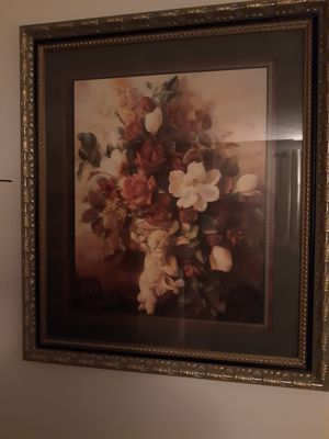 Floral picture frame for Sale in New Hartford, CT