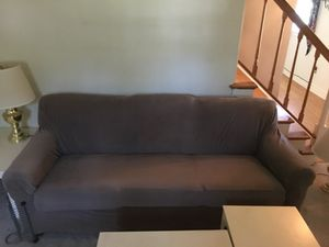 Couch with table lamps for Sale in Rockville, MD