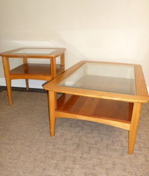 Solid Wood Midcentury Coffee and End Table Set - Delivered for Sale in Tacoma, WA