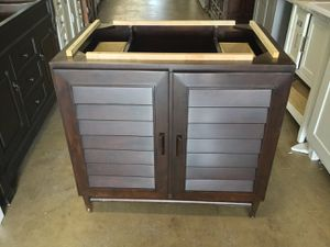James Martin Portland 36 in. Bathroom Vanity Cabinet with Soft Close Hinges in Burnished Mahogany for Sale in Dallas, TX