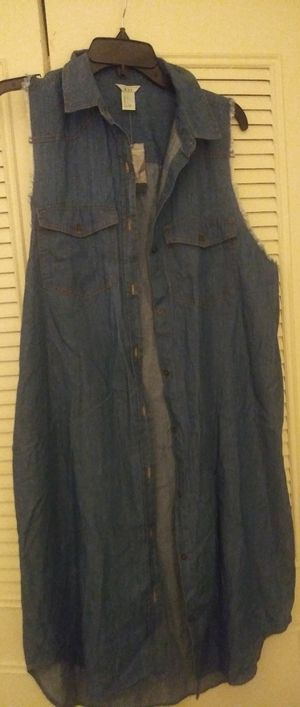 Brand New Jean Dress Size Large for Sale in Suitland-Silver Hill, MD