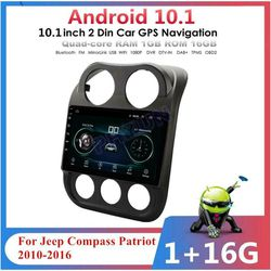 "10.1"" For 10-16 Jeep Patriot Compass Android 10.1 Radio Stereo GPS Head Unit 16G for Sale in Norcross,  GA"