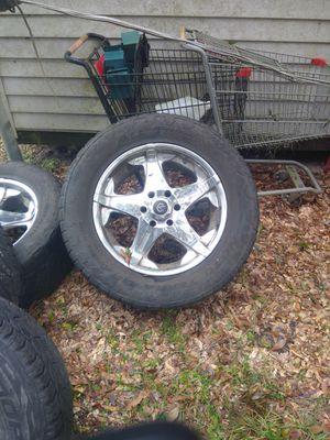 Six Lug 20 Inch rims for Sale in Summerfield, FL