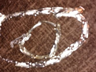 Necklace With Matching Bracelet Silver Tone for Sale in Spartanburg,  SC