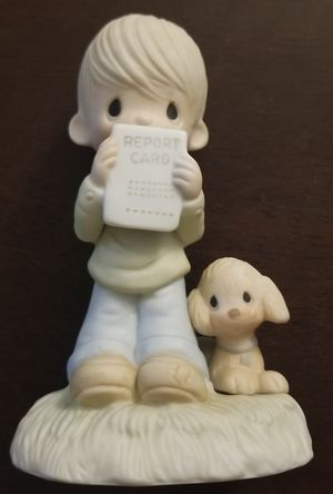 Precious Moments E-1379/B Boy With Report Card 1978 God Understands for Sale in Spring Valley, CA