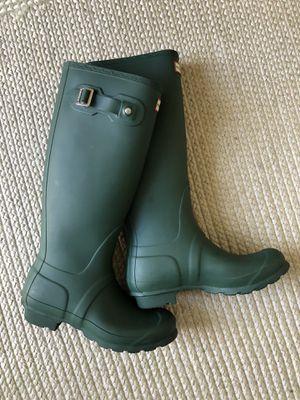Hunter tall rain boots size 7 for Sale in Chula Vista, CA
