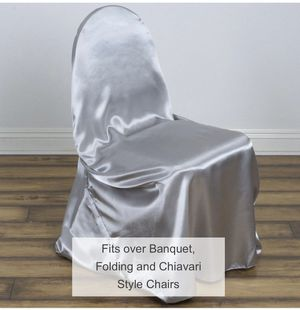 Universal Self Tie Chair Covers (Champagne, Ivory, Chocolate and White) for Sale in Manassas, VA