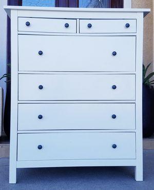 IKEA White HEMNES 6 Drawer Dresser Chest Clothes Storage Organizer Unit Stand for Sale in Monterey Park, CA