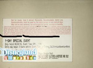 Disneyland Oogie Boogie Bash tickets (4) for Sale in Hacienda Heights, CA
