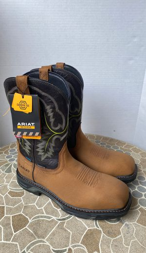 ARIAT BOOTS NEW COMPOSITE TOE WATERPROOF SIZE 11 MEN'S for Sale in Montebello, CA