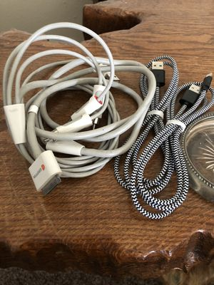 Griffin iPad 1st gen rca cable iPhone charger cables for Sale in Bakersfield, CA