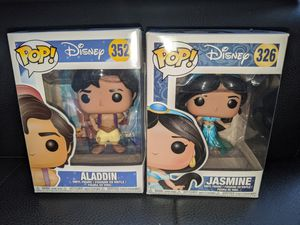 Funko Pop Disney ALADDIN & JASMINE #326 #352 Vinyl Figure Doll Toy Collectible Bobblehead for Sale in San Diego, CA