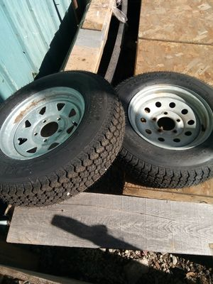 Wheels and tires and other miscellaneous trailer parts/inexpensive for Sale in Pembroke, MA
