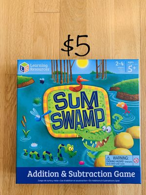 Sum Swamp math board game for Sale in Los Angeles, CA