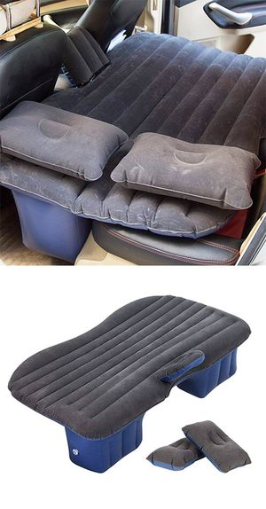 """$25 NEW Inflatable Mattress Car Air Bed Backseat Cushion Travel Camping w/ Pillow Pump 54x33"""" for Sale in Pico Rivera, CA"""