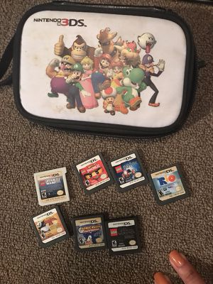 Nintendo 3ds w/ Case and 8 games for Sale in Oakland, CA