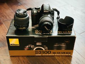 Nikon D3100 with 2 lenses and carrying bag for Sale in Hanover, MD