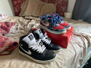 Air Jordan ones & Nike Air Force ones good condition for Sale in Aurora, CO