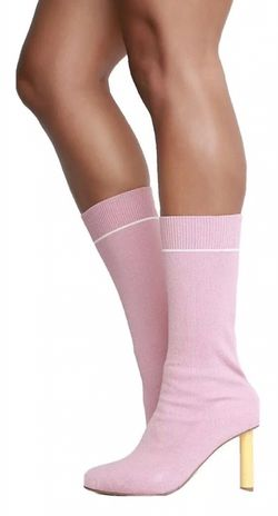 Cape Robbin Pale Pink Socks Mid Calf Boots Womens Shoes Heels Size 8.5 for Sale in Spring Valley,  NV