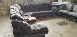 3 peice sectional sofa bed & recliner for Sale in Allentown, PA