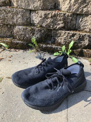 Men's Nike Epic React Flyknit 2 / US Size 10.5 / Used / Black for Sale in Portland, OR