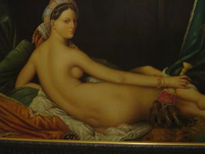 Louvre Ingres' Odalisque oil painting copy of 4ft large for Sale in Chicago, IL