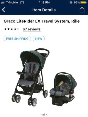 Graco literider lx stroller w/ car seat $80 for Sale in Las Vegas, NV
