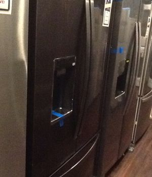 New open box whirlpool refrigerator black stainless steel WRF954CIHV for Sale in South Gate, CA