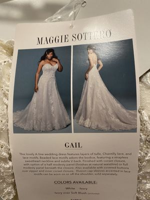 Maggie Sottero Size 16 Gail Dress for Sale in Matthews, NC