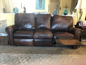 Arizona Leather Brand leather two recliner couch for Sale in Orange, CA